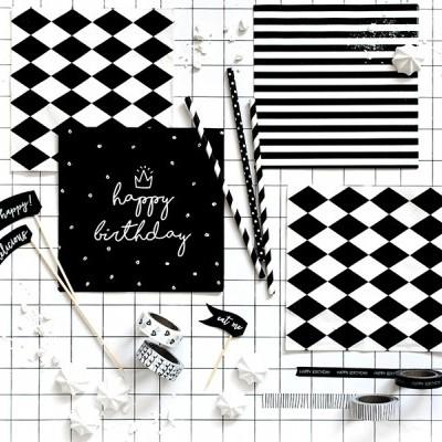 Washi Tape Preto e Branca