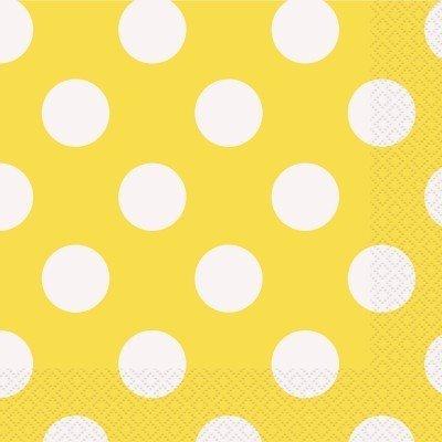 Guardanapos Amarelo Bolas
