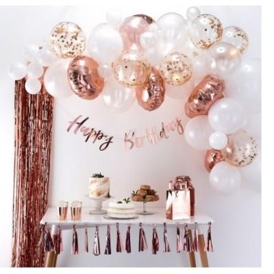 Arco Balões Rose Gold