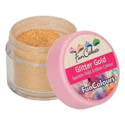 Corante Pó Purpurina Comestível Dourada
