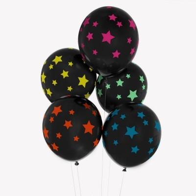 Conj. 5 Balões Disco Stars