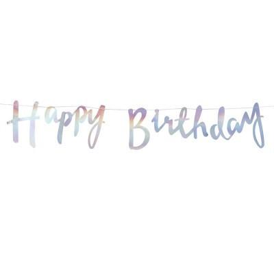 Grinalda Happy Birthday Iridiscente