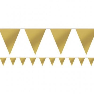 Bandeirolas Papel Dourado Lisas