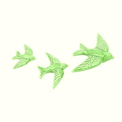 Conj. 3 Andorinhas Verde