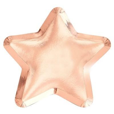Pratos Rose Gold Estrelas