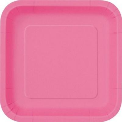 Pratos Rosa Quadrados