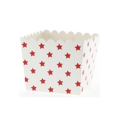 Caixinha Vermelha Estrelas