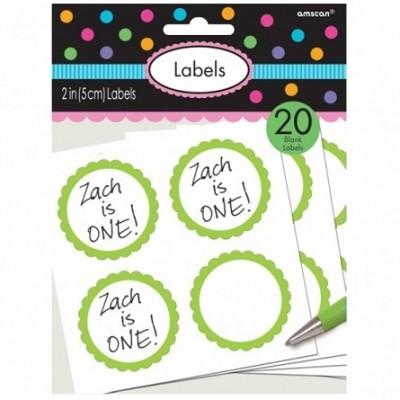 Etiquetas Autocolantes Verde