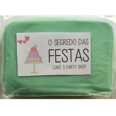 Pasta de Açúcar Azul Pastel