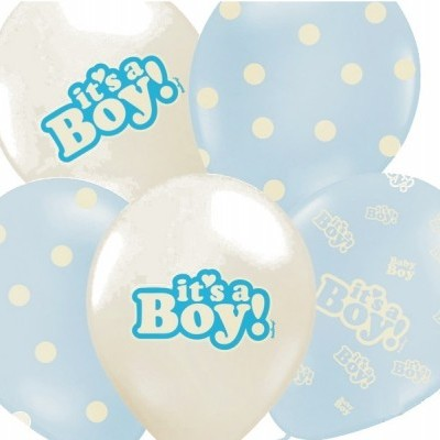 Conj. 6 Balões It's a Boy! Variados