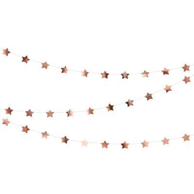 Grinalda Estrelas Rose Gold