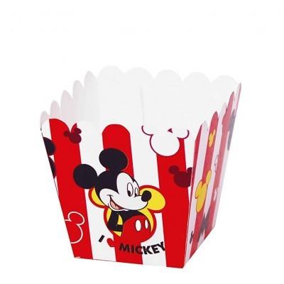 Conj. 12 Caixas Pipocas Peq Mickey