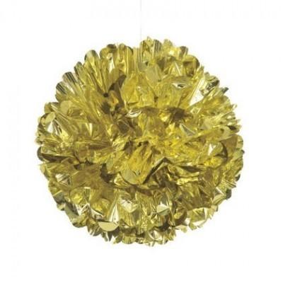 Pompom Grande Dourado Metálico