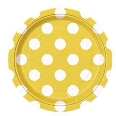 Pratos Amarelo Bolas Pequenos