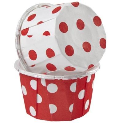 Formas Cupcakes Vermelhas e Brancas Bolinhas