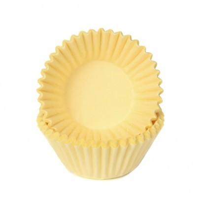 Conj. 100 Mini Forminhas Amarelo Pastel