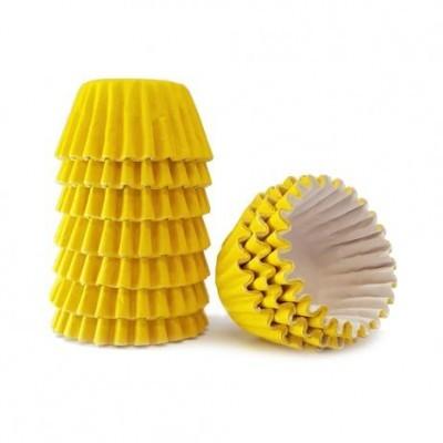 Conj. 100 Mini Forminhas Amarelo