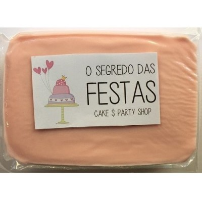 Pasta de Açúcar Rosa Pastel