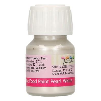 Tinta Comestível Branco Perolado
