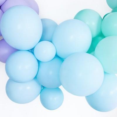 Balão Azul Claro Pastel 12cm