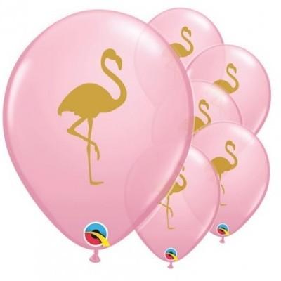 Conj. 5 Balões Flamingo