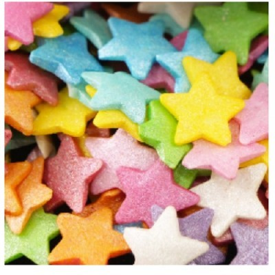 Confetis Açúcar Estrelas Coloridas Grandes
