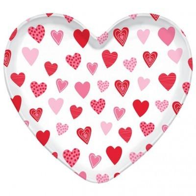 Prato Plástico Coração