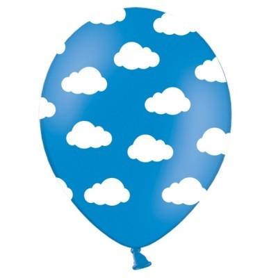 Conj. 6 Balões Nuvens Azuis Escuras