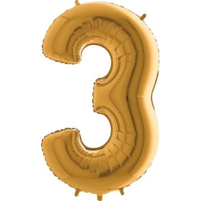 Balão Gigante 3 Dourado