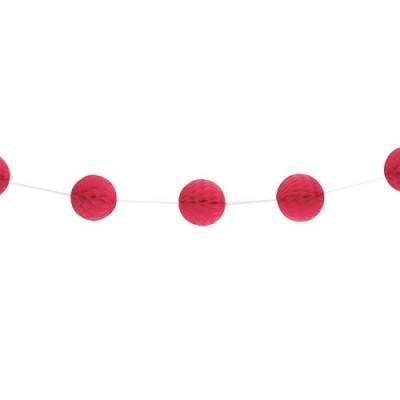 Grinalda Mini Bolas Vermelho
