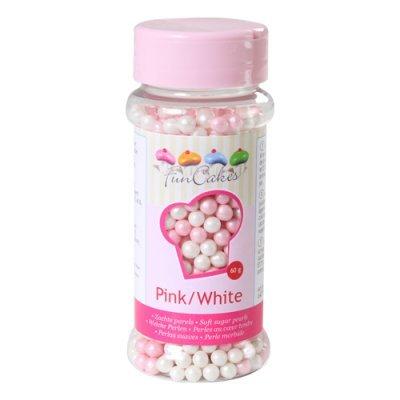 Pérolas Rosa e Branco