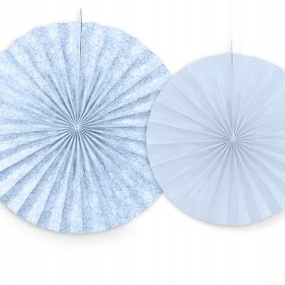 Rosetas Azul Pastel Padrão - Conj. 2