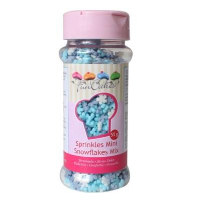 Confetis Açúcar Flocos de Neve Mini