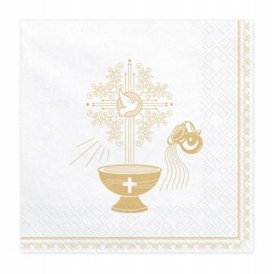 Guardanapos Batismo Dourado