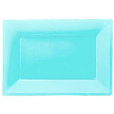 Travessas Azul Turquesa Plástico