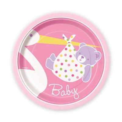 Pratos Bebé Rosa Pequenos