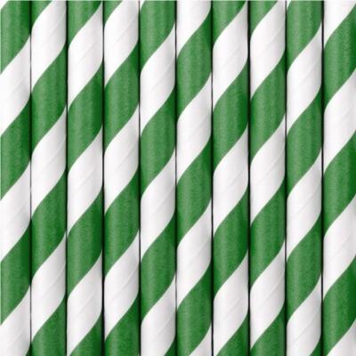 Palhinhas Verde Riscas -  Conj. 10