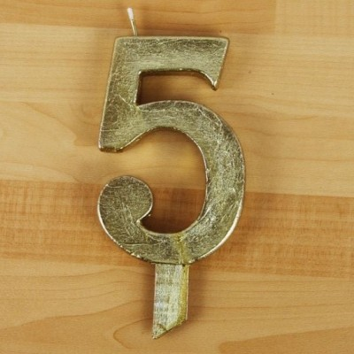 Vela Artesanal Número Gigante Dourada