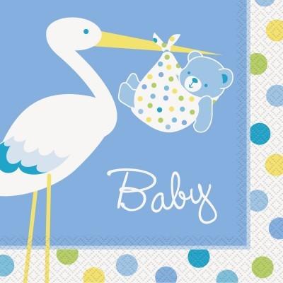 Guardanapos Bebé Azul