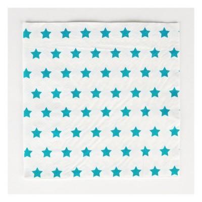 Guardanapos Azul Turquesa Estrelas