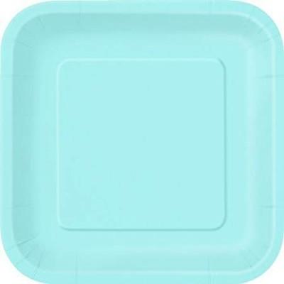 Pratos Azul Claro Quadrados