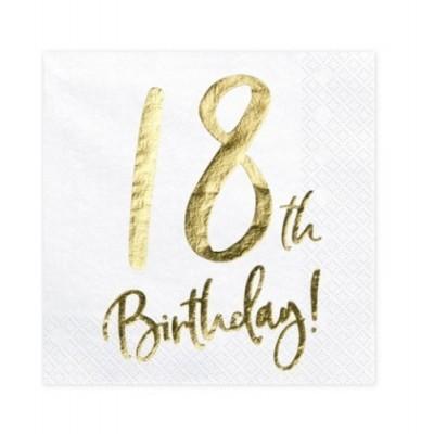 Guardanapos 18th Birthday