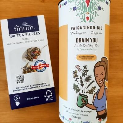 Pack DRAIN YOU 60 doses + caixa com filtros para infusão - Finum® (100 unidades)