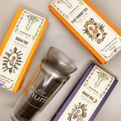 Cabaz de Natal by Senasaudáveis com copo térmico para chá com infusor patenteado TRAVELER ZITA™