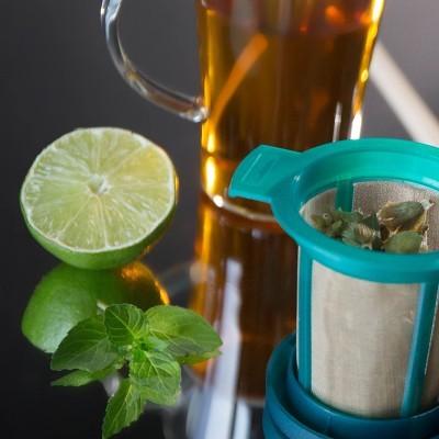 Goldton Set - 2 infusores em malha micro-fina de inox para chá/infusão/café