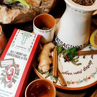 """Conjunto de chá em cerâmica """"Feito no Alentejo, com vagar""""  Olarias de S. Pedro do Corval"""