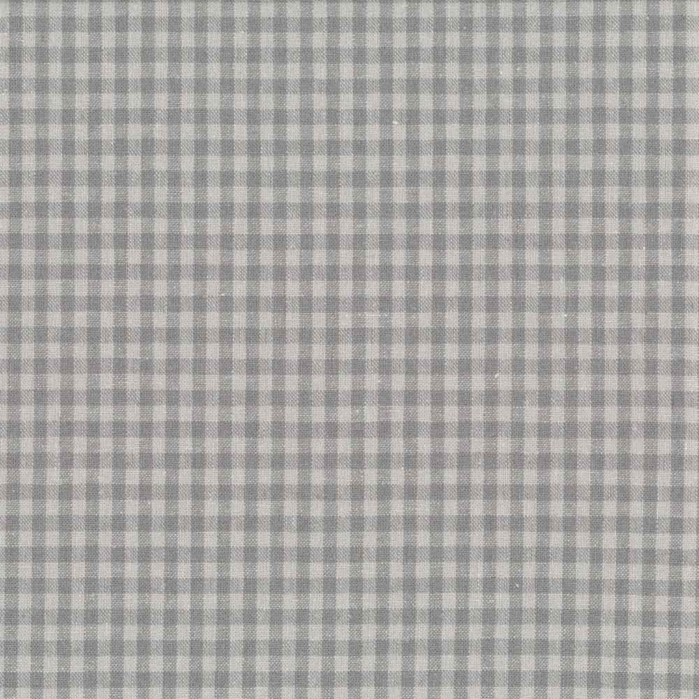 Linho quadrados cinza
