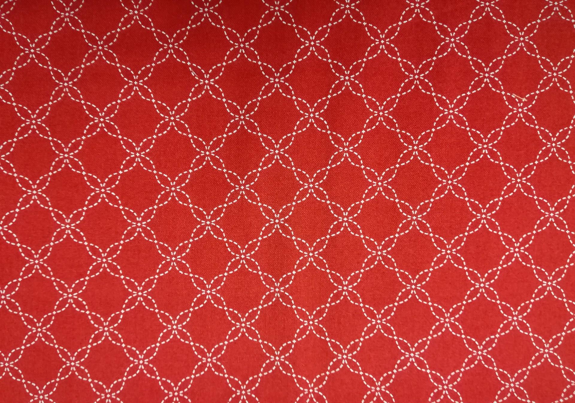 Sashiko em vermelho