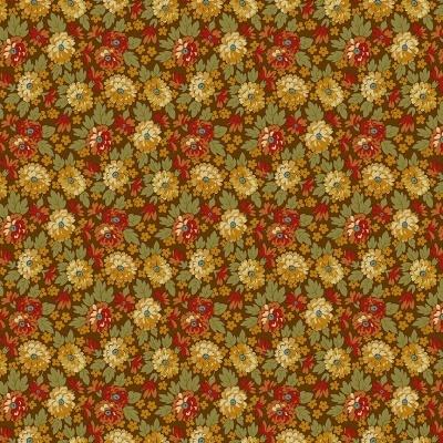Flores de Outono fundo castanho