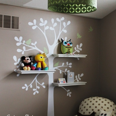 Shelving Tree with Birds